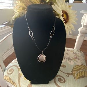 Silpada Sterling Silver & Leather Necklace